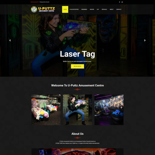 U-Puttz Amusement Centre Website Design